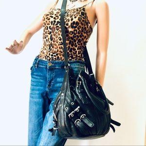 Michael Kors Large Milo Drawstring Buckle Bag